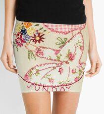Sunny Sunday Bouqet Of Flowers  Bonnet Lady Mini Skirt