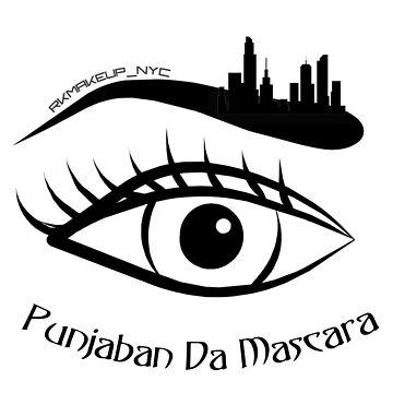 Punjaban Da Mascara logo Women's Casual V-Neck Shirt by prezziefactory