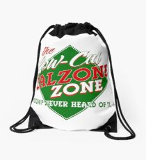 The Low-Cal Calzone Zone Drawstring Bag
