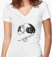 the Witch's Companion Women's Fitted V-Neck T-Shirt