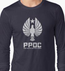Pan Pacific Defense Corps Sigil (White Variant) Long Sleeve T-Shirt