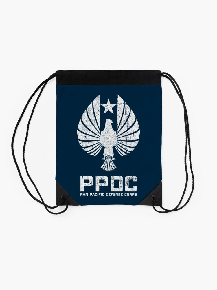 Alternate view of Pan Pacific Defense Corps Sigil (White Variant) Drawstring Bag