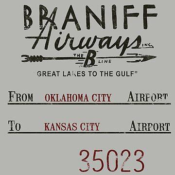 "Braniff Airways ""B-Line"" Vintage Airline Tag Design by RealPilotDesign"