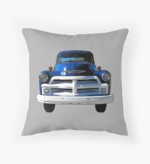 Blue Truck from the 1940s Throw Pillow