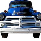 Blue Truck from the 1940s by RetroArtFactory