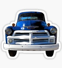 Blue Truck from the 1940s Sticker