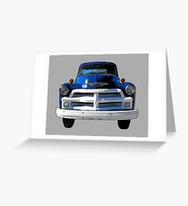 Blue Truck from the 1940s Greeting Card