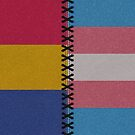 Pansexual Transgender Leather Flag by LiveLoudGraphic