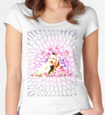 The head in daisies Women's Fitted Scoop T-Shirt