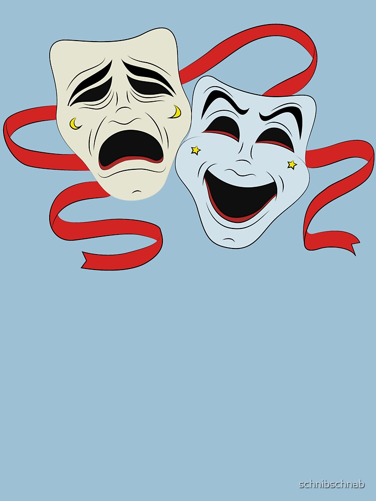 Masks crying and laughing by schnibschnab