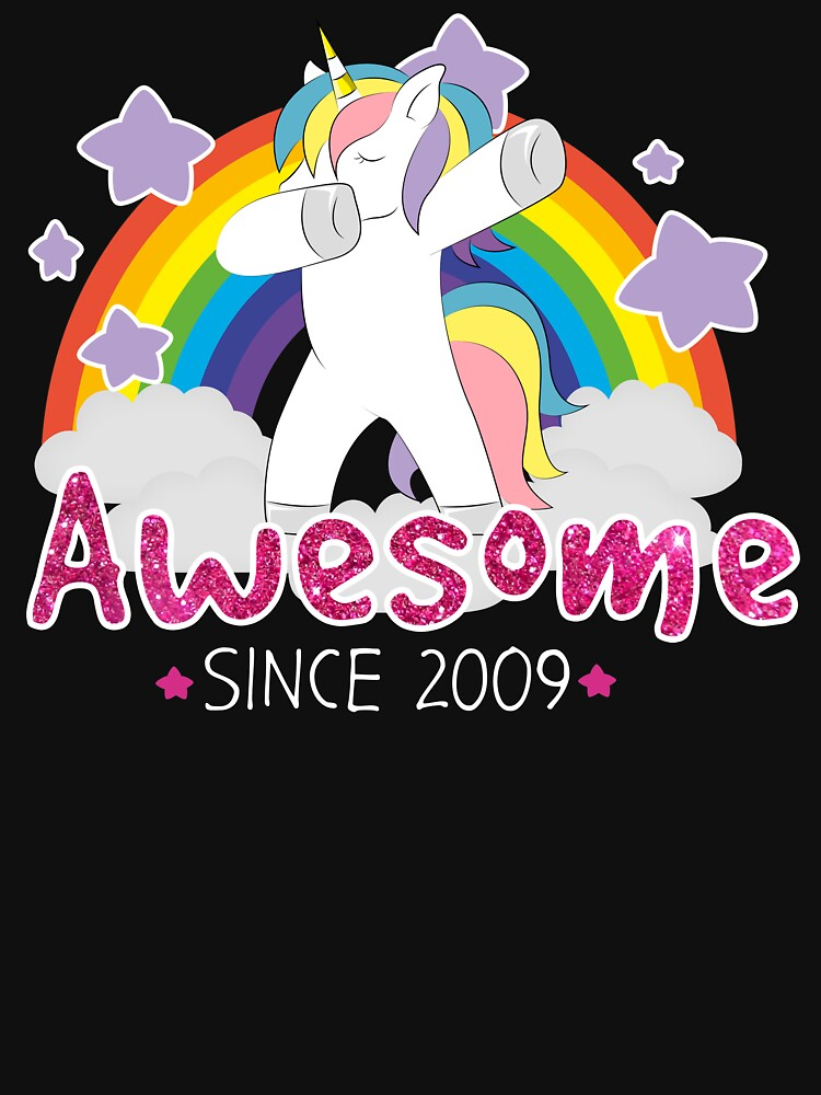 Dabbing Unicorn Since 2009 Birthday Gift by 4tomic