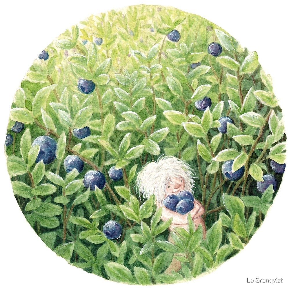 Gathering Blueberries by Embla Granqvist