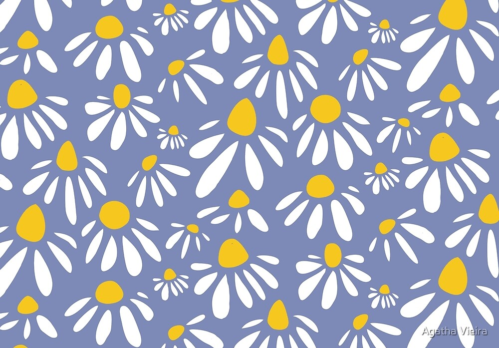 Delicate Flowers Pattern by Agatha Vieira