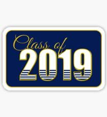 Class of 2019 Blue and Gold Sticker