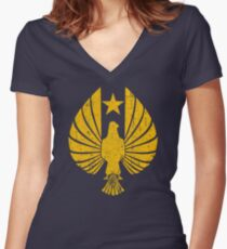 Pan Pacific Defense Corps Logo Women's Fitted V-Neck T-Shirt