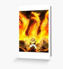 Natsu Fire Dragon Slayer (Fairy Tail) Greeting Card