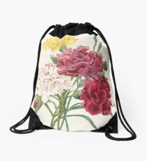 Flower Color Pencil Hand Drawing  Drawstring Bag