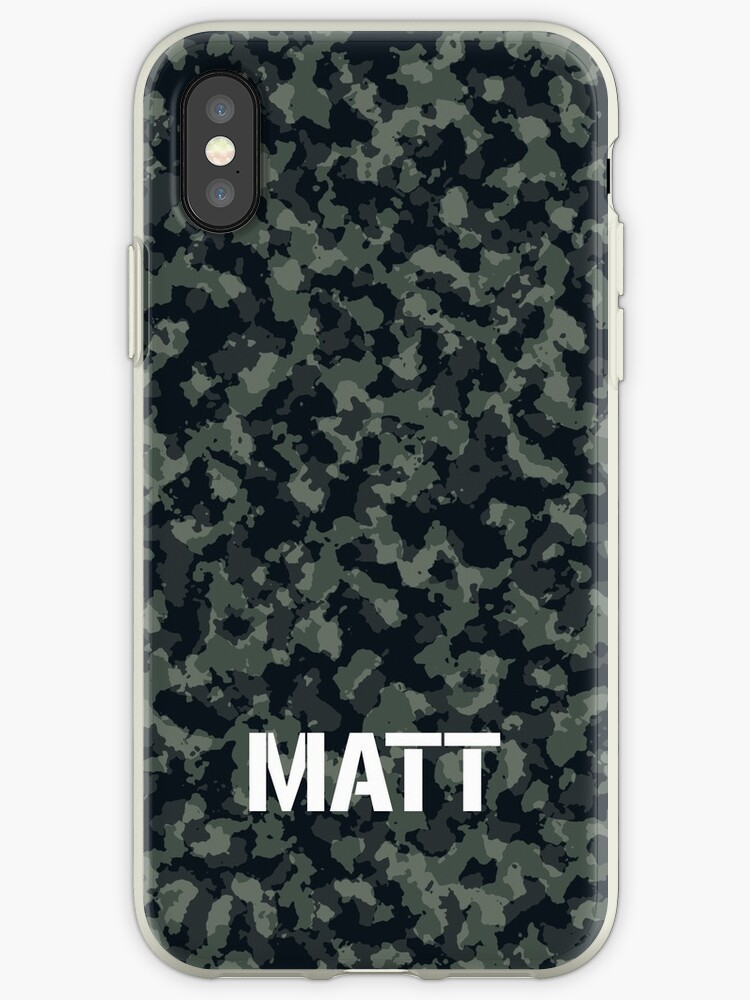 Camouflage Personalized For Matt by rewstudio