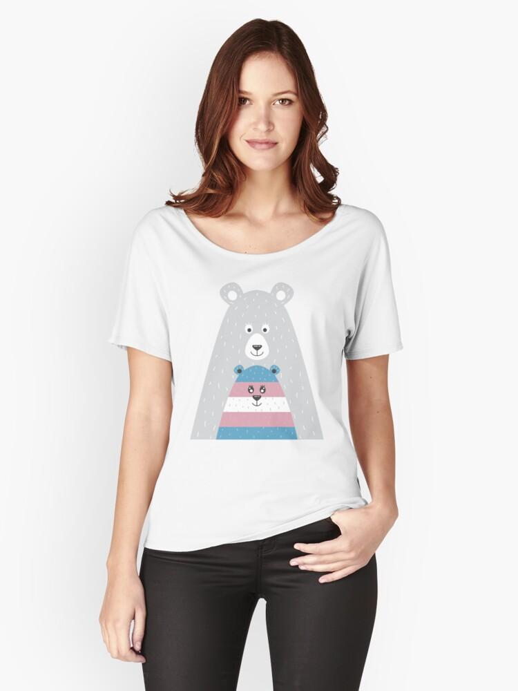 Mama Bear Transgender, Protect Trans Kids Women's Relaxed Fit T-Shirt Front
