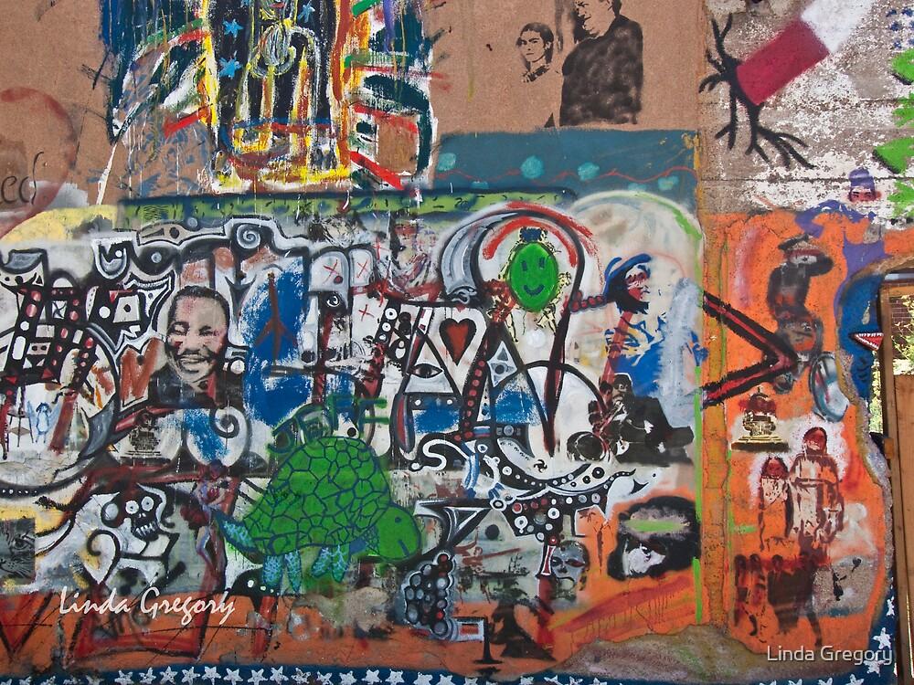 Bisbee, Arizona Graffiti Wall 2009 by Linda Gregory
