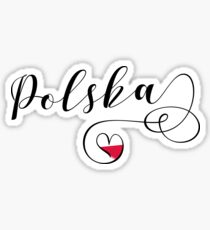 Poland Heart, Polska, I Love Poland Sticker