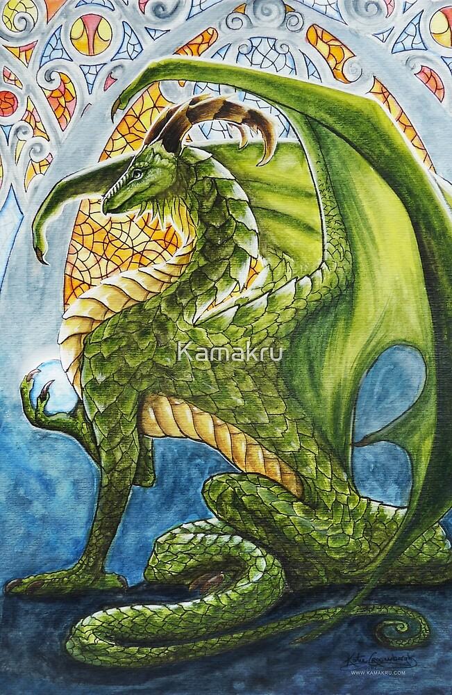 Stained Glass Dragon by Kamakru