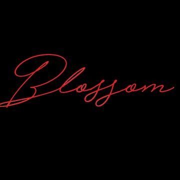 """Blossom"" text design by BibleAndABeer"