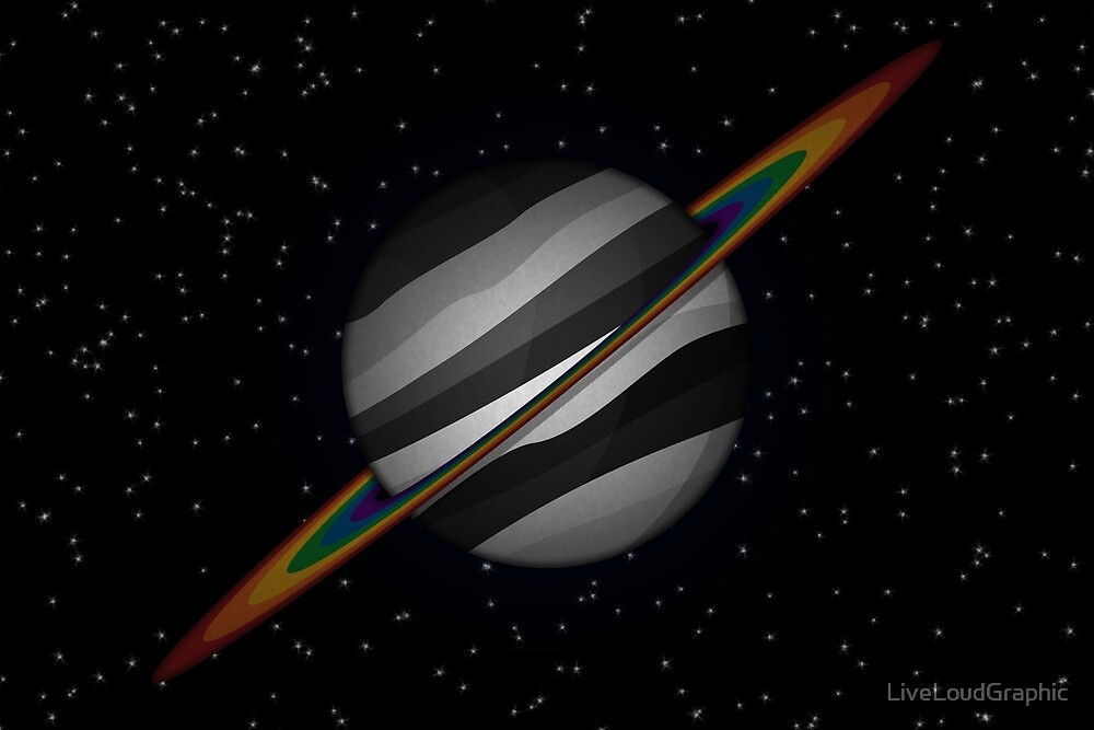 LGBT Ally Planet by LiveLoudGraphic