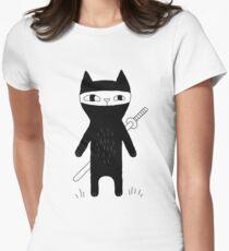 Ninja Cat Women's Fitted T-Shirt