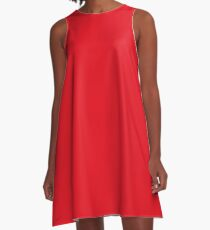 Red Swagger A-Line Dress
