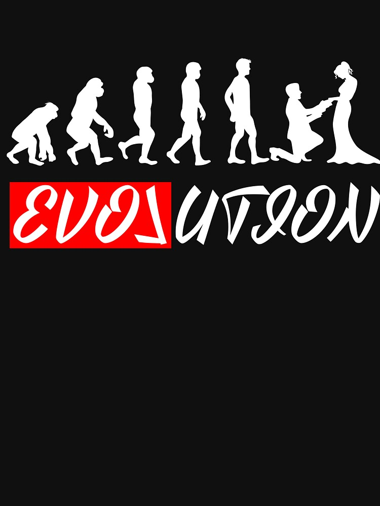 Evolution with love marriage wedding women t-shirt by peter2art