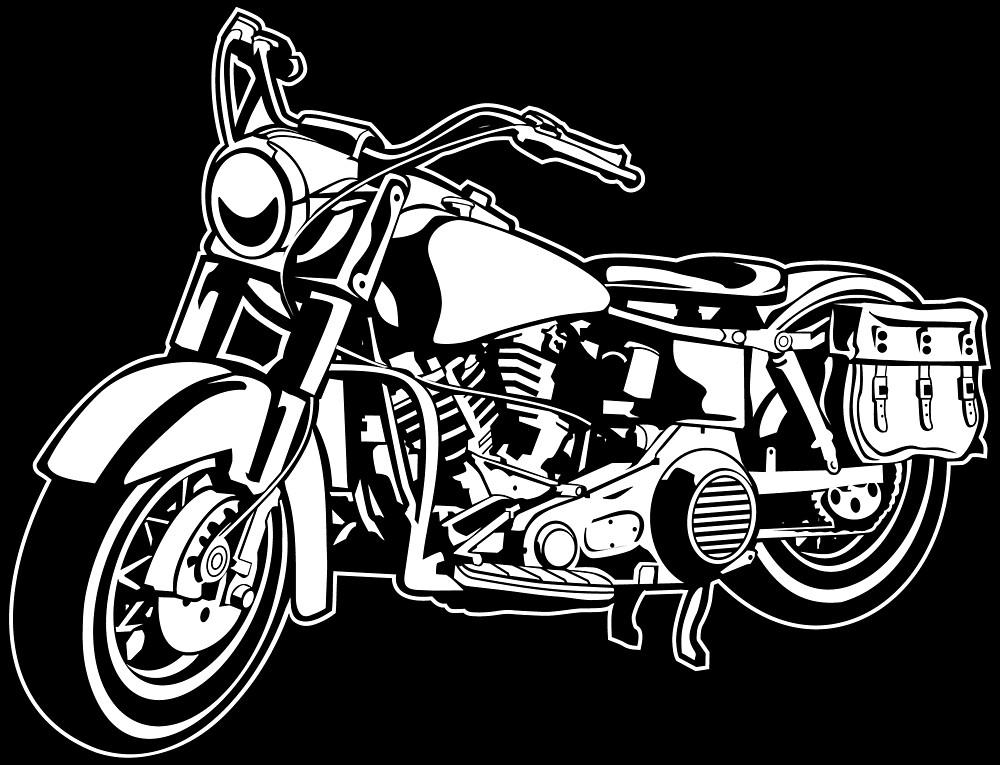 Chopper / motorcycle 10_white by RollOn