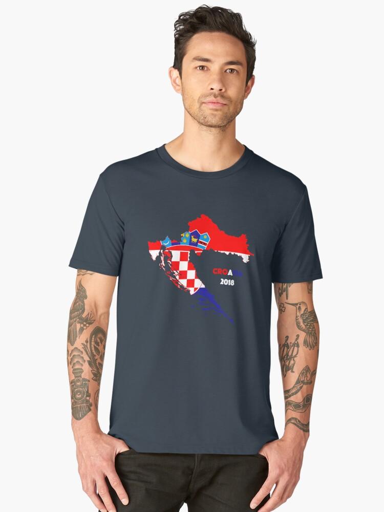 Croatia Vintage Flag Men's Premium T-Shirt Front