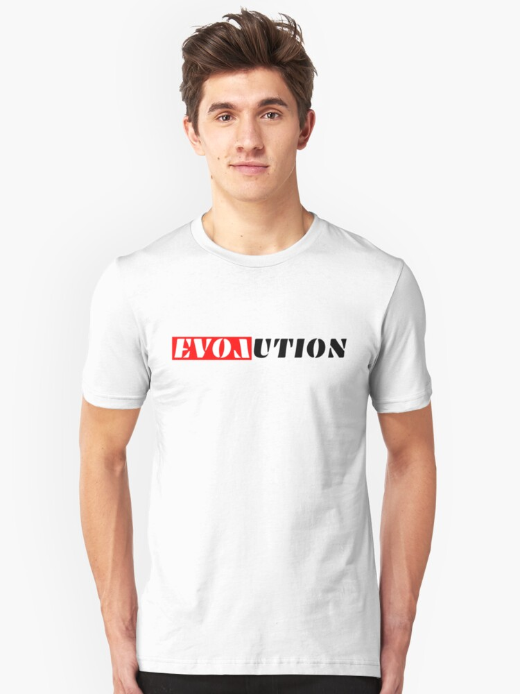 Evolution Tshirt starts with and includes 'Love' Unisex T-Shirt Front