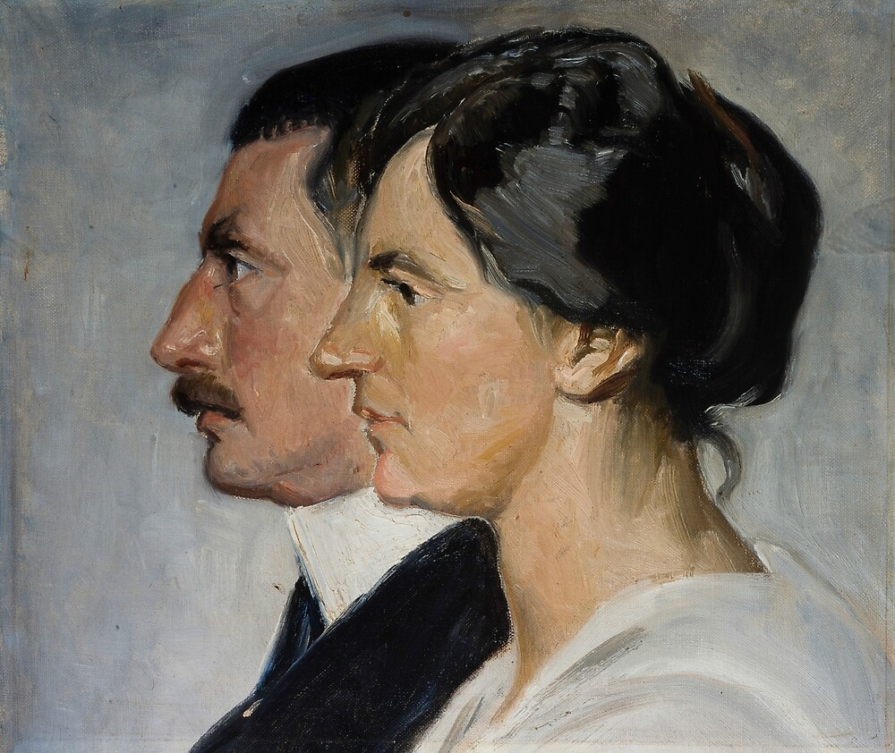 King Christian X and Queen Alexandrine of Denmark by Michael Ancher by classicartcache