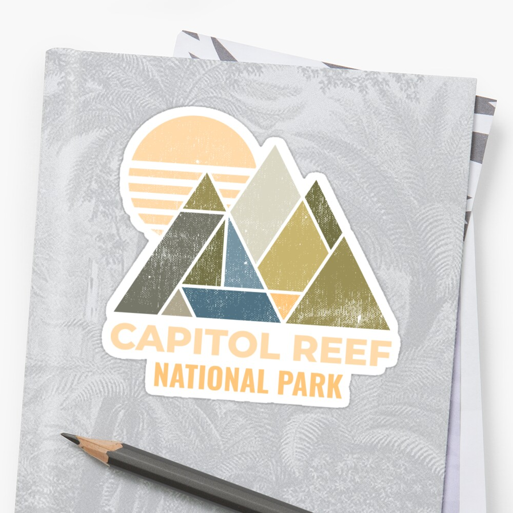 Capitol Reef Utah Distressed by NationalParksCo