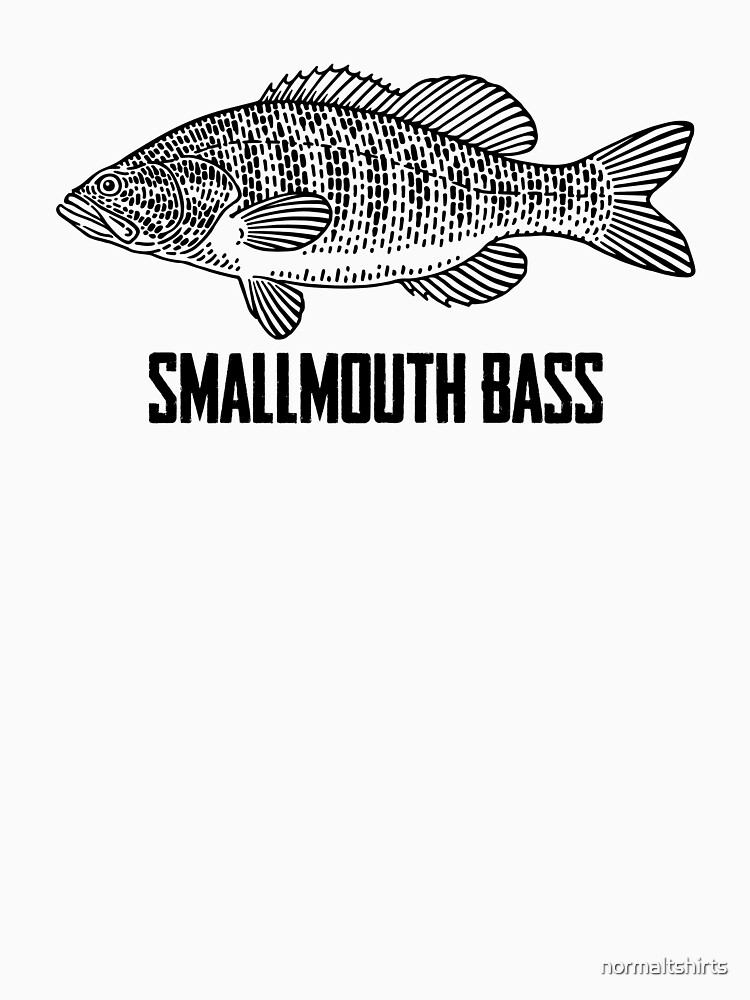 Smallmouth Bass Vintage Outdoor Design for Fishing Lovers by normaltshirts