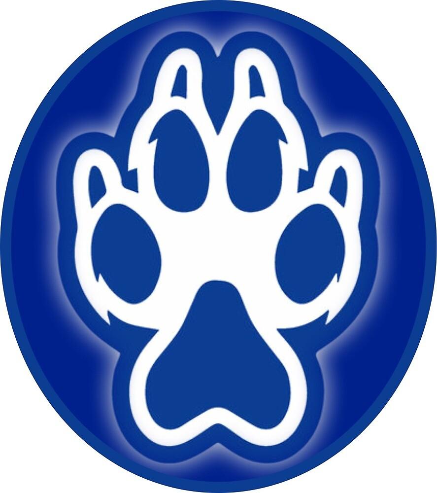 Sonoma State University Seawolf Paw Sticker by mikaarielle