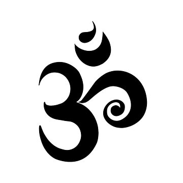 Black Om Symbol  by Rainel