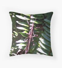 Eewh! A Bug on the Fern Throw Pillow