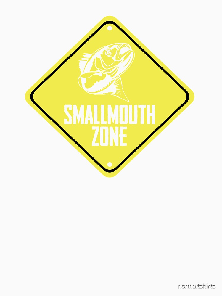 Smallmouth Fishing Zone Danger Sign Fishing Zone by normaltshirts