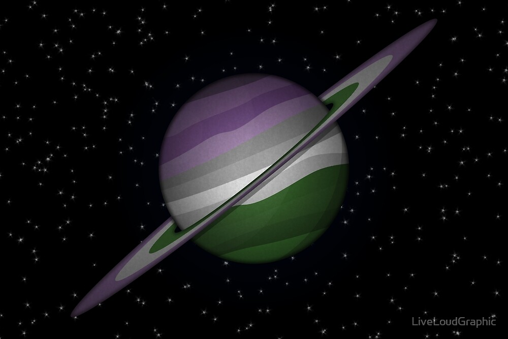 Genderqueer Planet by LiveLoudGraphic