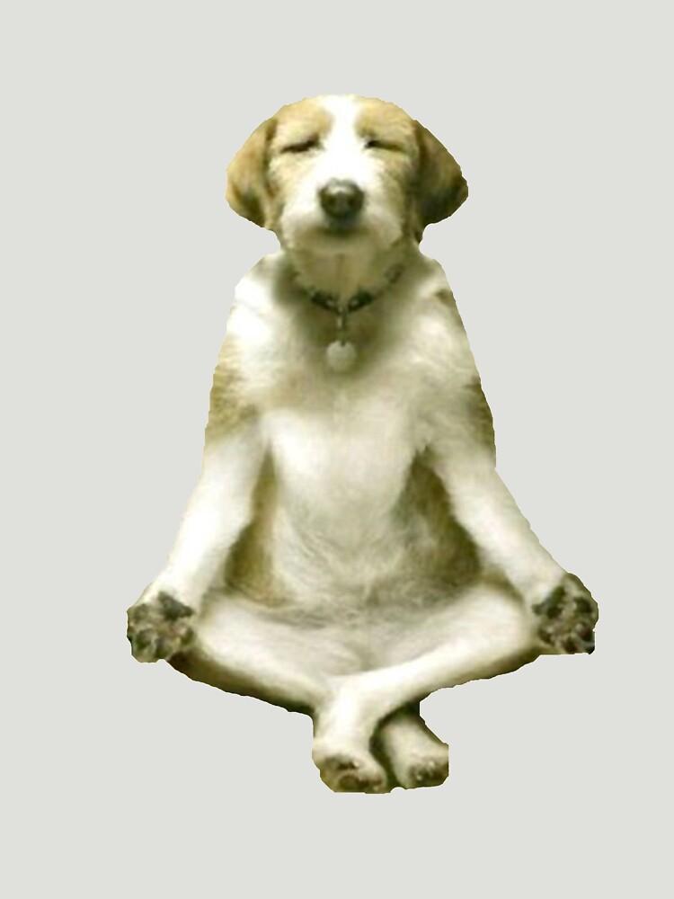 Yoga Dog by adjua