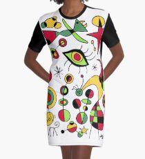 Joan Miro Peces De Colores (bunte Fische), T-Shirt, Kunstwerk Reproduktion T-Shirt Kleid