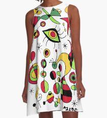 Joan Miro Peces De Colores (bunte Fische), T-Shirt, Kunstwerk Reproduktion A-Linien Kleid