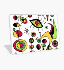 Joan Miro Peces De Colores (Colorful Fish ), T Shirt, Artwork Reproduction Laptop Skin