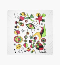 Joan Miro Peces De Colores (Colorful Fish ), T Shirt, Artwork Reproduction Scarf