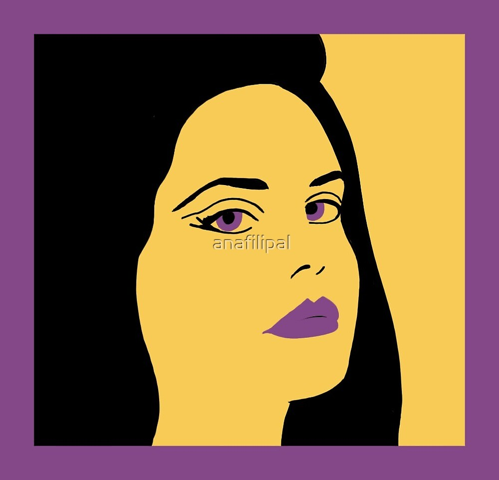 Lana Del Rey Pop Art Illustration  by anafilipal
