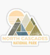 North Cascades Washington Distressed Sticker
