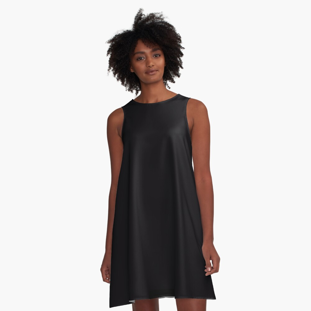 Basic Black A-Line Dress Front